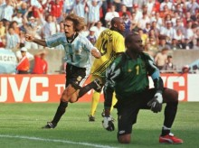 Gol de Batistuta a Jamaica en el Mundia del 98