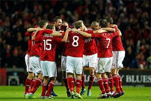 Selección de Dinamarca clasificada para la Eurocopa 2012