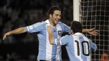 Higuaín obstenta el último hat trick conseguido en un Mundial