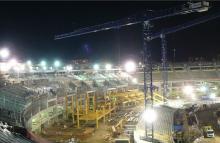 El estadio Maracaná en pleno estado de remodelación